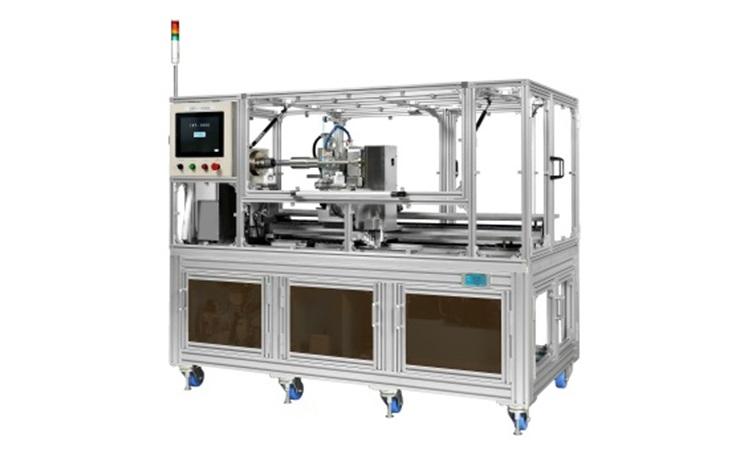 異形シャフトの研磨ができるテープ研磨装置